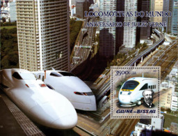 Guinea Bissau 2005  Trains (Japanese Trains) & Anniversary Jules Verne S/s - Guinea-Bissau