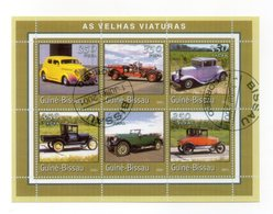GUINEA BISSAU - 2001 - Foglietto Tematica  Trasporti - Automobili - 6 Valori - Con Doppio Annullo - (FDC13570) - Guinea-Bissau