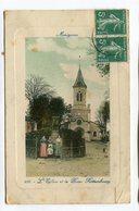 CPA  91 : MONTGERON  église Et Place   VOIR  DESCRIPTIF §§§ - Montgeron