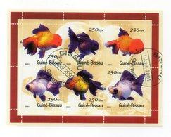 GUINEA BISSAU - 2001 - Foglietto Tematica  Animali - Pesci - 6 Valori - Con Doppio Annullo - (FDC13572) - Guinea-Bissau
