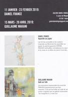 Daniel France, Guyana, Aquarelles - Guillaume Makani,Congo, Huile Sur Toile - Galerie Daniel Vignal - Janvier/Avril 2019 - Non Classés