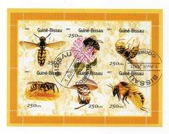 GUINEA BISSAU - 2001 - Foglietto Tematica  Animali - Insetti (Api) - 6 Valori - Con Doppio Annullo - (FDC13573) - Guinea-Bissau
