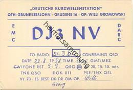QSL - Funkkarte DJ3NV - Iserlohn - 1958 - Amateurfunk