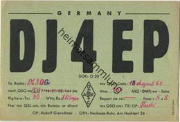 QSL - Funkkarte DJ4EP - Witten-Herbede - 1958 - Amateurfunk