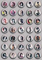 35 X Amy Winehouse Music Fan ART BADGE BUTTON PIN SET 3 (1inch/25mm Diameter) - Music