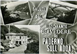 PADERNO D'ADDA  LECCO  Saluti Dal Ristorante Belvedere  Vedutine Diga Edison  Ponte Di Ferro - Lecco