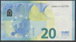 "EURO 20  ITALIA SD S019  ""41""  DRAGHI  UNC - EURO"