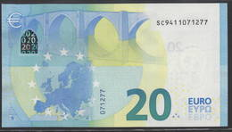 "EURO 20  ITALIA SC S019  ""41""  DRAGHI  UNC - 20 Euro"