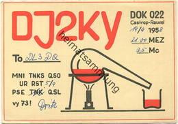 QSL - Funkkarte - DJ2KY - Castrop-Rauxel - 1958 - Amateurfunk