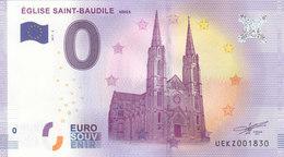 EUROPE ZERO 0 EURO FRANCE 2017  EGLISE SAINT BAUDILE - EURO