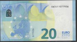 "EURO 20  ITALIA SB S019  ""41""  DRAGHI  UNC - 20 Euro"