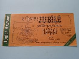Le Cigarillos Jubilé - Havane ( Sumatra Zandblad ) ( Formaat =  +/- 19 X 9 Cm.) ! - Bagues De Cigares
