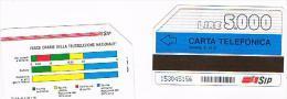 TELECOM ITALIA (SIP) - CAT. C.& C. 1133 - FASCE ORARIE 31.12.91 PK 5000    - USATA - Italia
