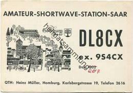 QSL - Funkkarte - DL8CX - Homburg - 1959 - Amateurfunk