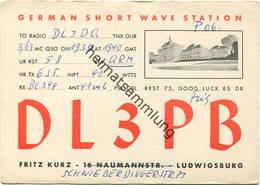 QSL - Funkkarte - DL3PB - Ludwigsburg - 1958 - Amateurfunk