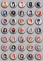 35 X Amy Winehouse Music Fan ART BADGE BUTTON PIN SET 4 (1inch/25mm Diameter) - Music