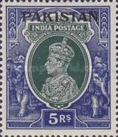 "USED STAMPS Pakistan - India Postage Stamps Overprinted ""PAKISTAN"" LARGE-1947 - Pakistan"