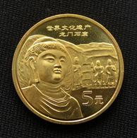 China 5 YUAN 2006 UNESCO - Longmen Grottoes Commemorative Coin UNC Km1731 - Chine