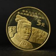China 5 YUAN 2002 UNESCO - Terra Cotta Army Commemorative Coin UNC Km1413 - China