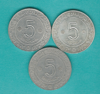 5 Dinars - 1972 - KM105, KM105a.1 & KM105a.2 - Angola