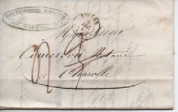 /LETTRE DE VIENNE  04/12/47 ESPOUR CHAROLLES TAXE  3 ANNULEE POUR 4 - 1801-1848: Precursores XIX