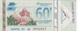 PALERMO / Servizio Urbano _ Biglietto-Tiket Da 60 Minuti - Bus