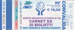 PALERMO / Servizio Urbano _ Biglietto-Tiket Da 90 Minuti - Bus