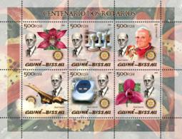Guinea Bissau 2005  100th Anniversary Rotary (also Pope, Concorde, Chess, Train, Orchids) - Guinea-Bissau