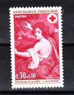 Francia   -  1968.  For  Red Cross. Mignard: L' Automne. Raccolta Dell' Uva. Harvesting Of Grapes. - Croce Rossa