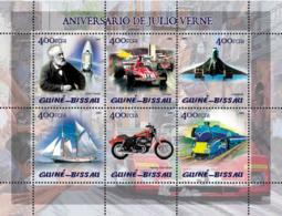 Guinea Bissau 2005 Jules Verne (also Space, Ferrari, Concorde, Train, Sail Ship, Motorcycle) - Guinea-Bissau