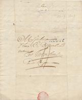199/28 - Lettre Précurseur 92 ALOST 1803 Vers TURNHOUT - Port Encre 4 Décimes - Signée Desmet - 1794-1814 (Franse Tijd)