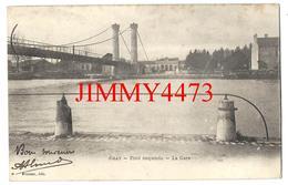 CPA - Pont Suspendu Et La Gare En 1904  - GRAY 70 Haute Saône -  Edit. Chateau - Scans Recto-Verso - Gray