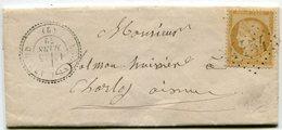 AISNE De NOGENT L ARTAUD LAC En Port Local Du 25/03/1872 Avec N°59 Oblitéré GC 4454+ Dateur T 24 - 1849-1876: Classic Period