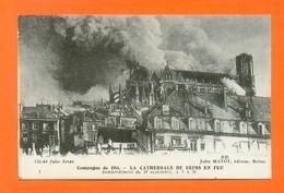 CPA FRANCE 51  ~  REIMS  ~  3  La Cathédrale En Feu, Bombardement Du 19 Septembre 1914  ( Matot ) - Reims