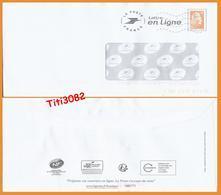 """PAP Lettre En Ligne """"Marianne L'Engagée"""" - N° 196171 - Ayant Servi - Postal Stamped Stationery"""