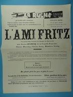 Couvin Cinéma Parlant La Ruche L'Ami Fritz De Jacques De Baroncelli (21 Cm X 28 Cm) - Affiches