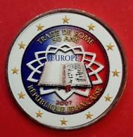 FRANCE 2007 - TRAITE DE ROME  - 2 EUROS COMMEMORATIVE COULEUR - FARBE - COLORED - COLOR - RARE AVEC LE TOUR BLANC - France