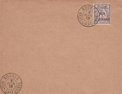 Nouméa 1918 Nelle Calédonie - Cagou Surchargé - !!! Grand Fragment Ou Devant De Lettre Seul - Briefe U. Dokumente
