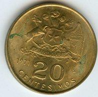 Chili Chile 20 Centesimos 1971 KM 195 - Chile