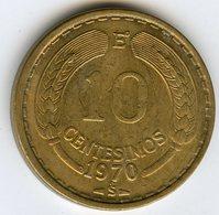 Chili Chile 10 Centesimos 1970 KM 191 - Chile