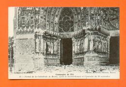 CPA FRANCE 51  ~  REIMS  ~  10 Portail De La Cathédrale Après Le Bombardement Et L'incendie Du 19 Septembre 1914 (Matot) - Reims