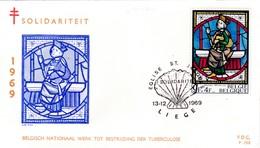 Saint Jacques, Coquille, FDC Belgique - Cristianismo