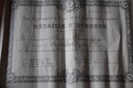 Diplome Etat Français  Chemin De Fer 1942 - Diplômes & Bulletins Scolaires