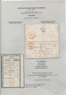 202/28 - Lettre Non Affranchie TOURNAY 1856 Vers TURNHOUT - Sneiers, 1ste Regiment Lanciers Te Doornik + Talon De Mandat - Poststempels/ Marcofilie