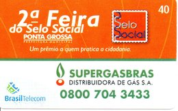 Télécarte Brésil Timbre Stamp  - 2ème Féria Phonecard  (G 650) - Timbres & Monnaies