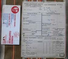 Lot 93 MONTREUIL Sous BOIS 54 MAXEVILLE  PERNOD  1968 - Facturas