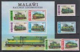 74745) Malawi - Posta Yvert 273/6+H,45 Mnh Treni-MNH** - Malawi (1964-...)