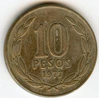 Chili Chile 10 Pesos 1977 KM 210 - Chile