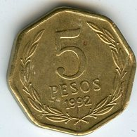 Chili Chile 5 Pesos 1992 KM 232 - Chili