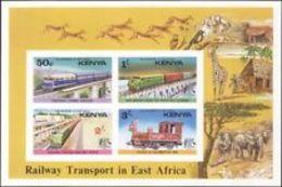 74747) KENIA-1976 Treni/vapore/Ferrovia/FERROVIE/Ponti/trasporto 4v-MNH** - Kenia (1963-...)